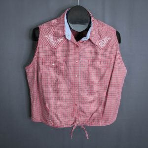 Generation West Wrangler Top Shirt Size XL Red